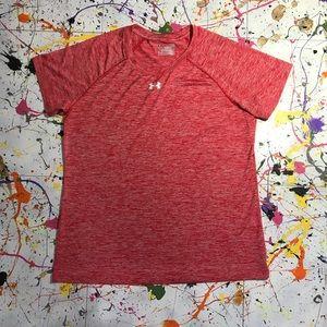 Under Armour (Heat Gear) Loose T-shirt (Sz Lg) Red